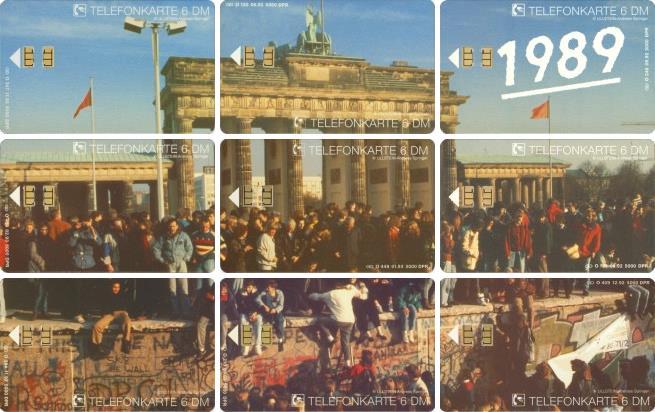 Telefonkarten-Puzzle Brandenburger Tor 1989